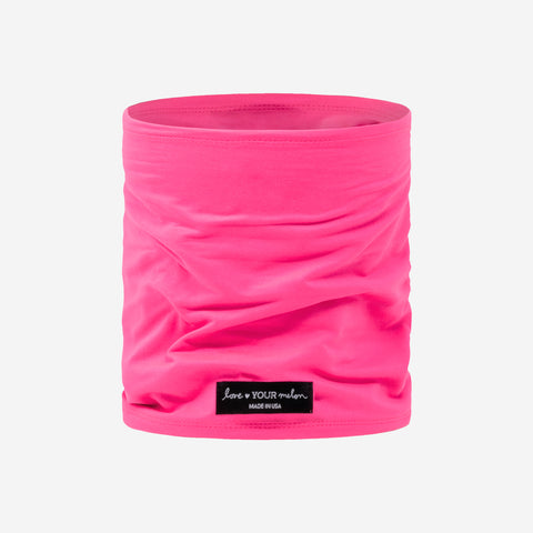 Neon Pink 2 Layer Neck Gaiter Face Mask