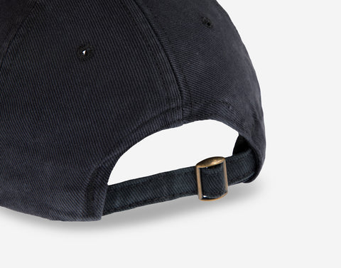 Black Gold Logo Washed Denim Cap