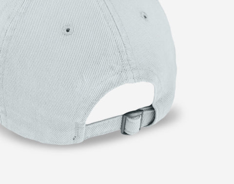 Gray Gold Logo Washed Denim Cap