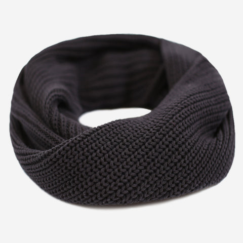 Black Gold Foil Infinity Scarf