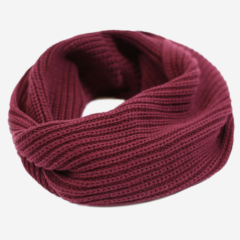 Burgundy Gold Foil Infinity Scarf