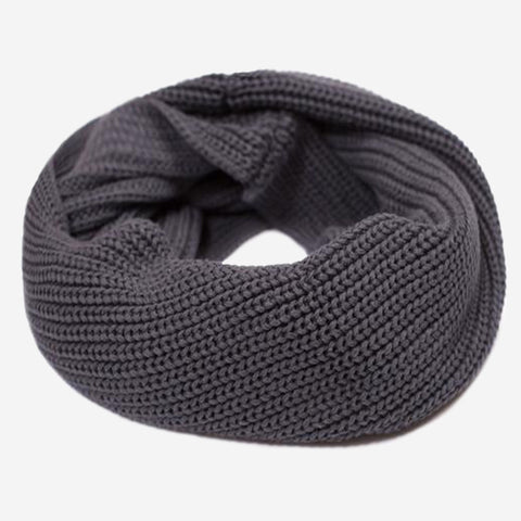 Dark Charcoal Gold Foil Infinity Scarf
