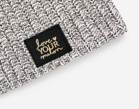 Black Speckled Gold Foil Beanie