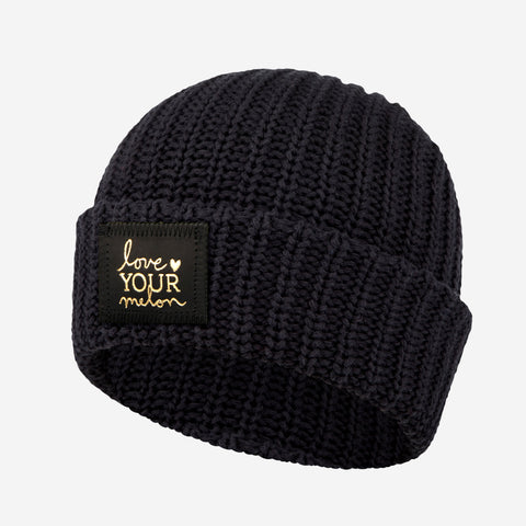 Black Gold Foil Cuffed Beanie-Beanie-Love Your Melon