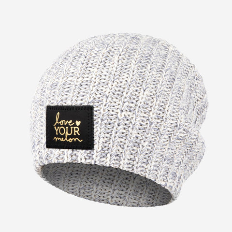 Gray Speckled Gold Foil Beanie-Beanie-Love Your Melon
