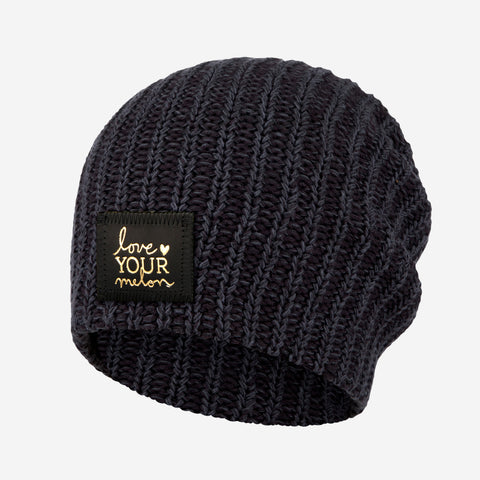 Smoke Speckled Gold Foil Beanie