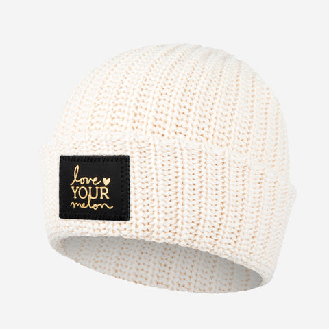 Natural Gold Foil Cuffed Beanie-Beanie-Love Your Melon