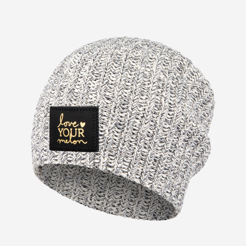 Charcoal Speckled Gold Foil Beanie-Beanie-Love Your Melon