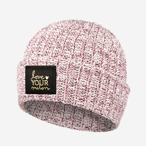 Burgundy Speckled Gold Foil Cuffed Beanie-Beanie-Love Your Melon