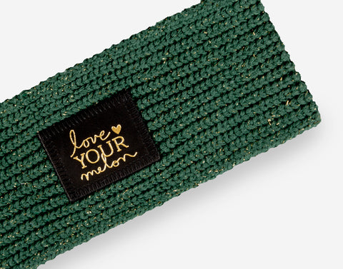 Hunter Metallic Gold Yarn Knit Headband-Knit Headband-Love Your Melon