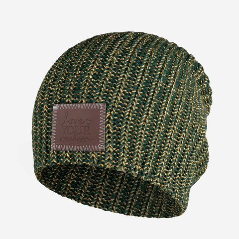 Hunter Metallic Gold Yarn Beanie