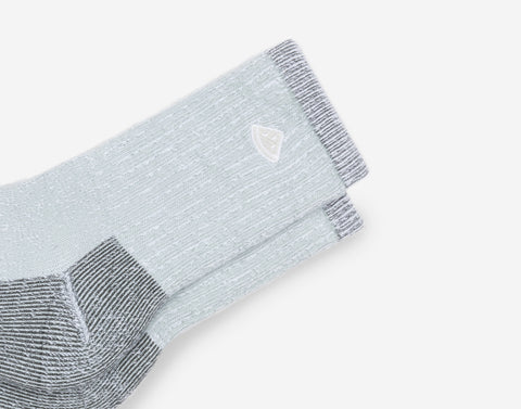 Gray Speckled Crew Knit Socks