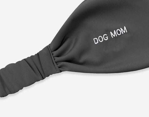 Charcoal Dog Mom Athletic Headband