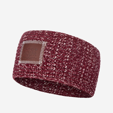 Burgundy and Natural Speckled Knit Headband-Knit Headband-Love Your Melon