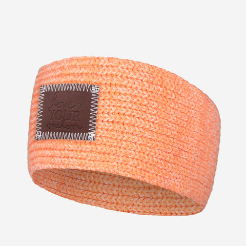 Salmon and Blush Speckled Knit Headband
