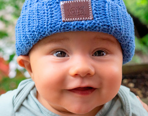Bright Blue Classic Baby Beanie