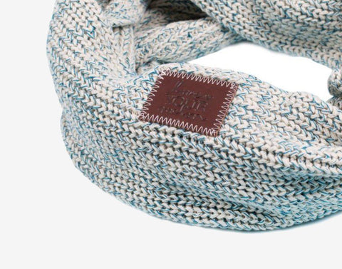 Teal Speckled Infinity Scarf-Scarf-Love Your Melon