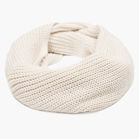 White Speckled Infinity Scarf