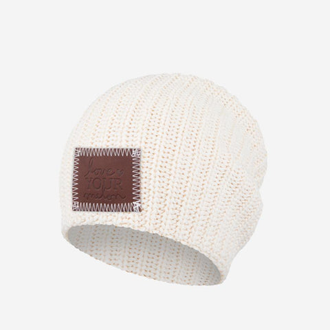 Kids White Speckled Beanie-Beanie-Love Your Melon