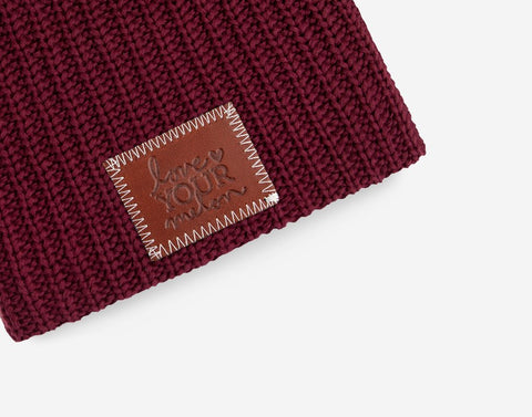 Kids Burgundy Beanie-Beanie-Love Your Melon