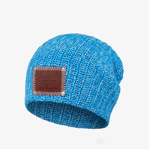 Kids Cool Blue and White Speckled Beanie-Beanie-Love Your Melon