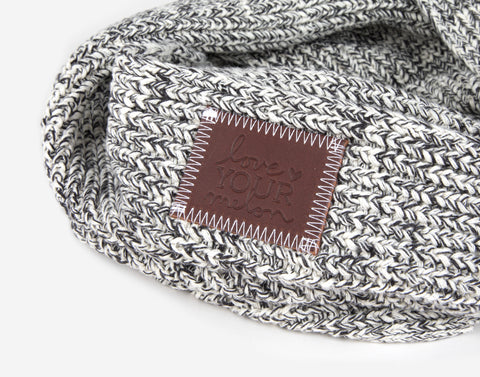 Black Speckled Kids Infinity Scarf
