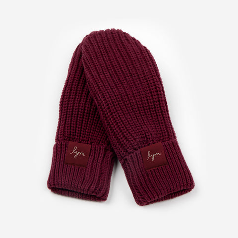 Burgundy Kids Mittens