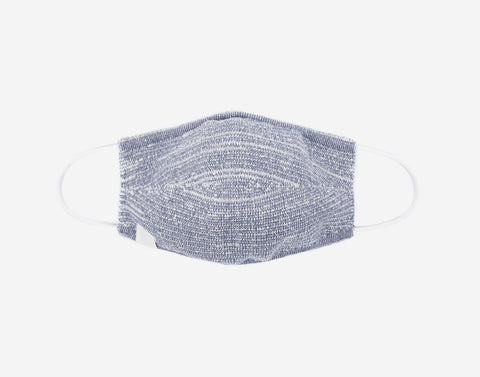 Adult Gray Speckled Cotton Seamless 3D Knit Face Mask
