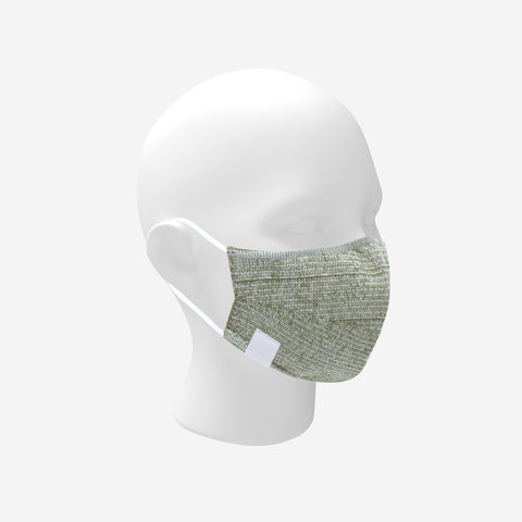 Adult Army Green and White Speckled Cotton Seamless 3D Knit Face Mask