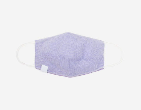 Adult Light Purple and White Speckled Cotton Seamless 3D Knit Face Mask