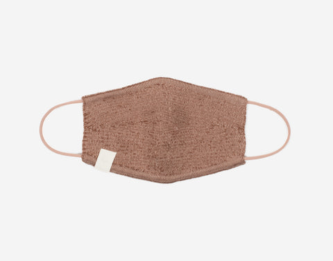 Adult Mocha and Khaki Speckled Cotton Seamless 3D Knit Face Mask