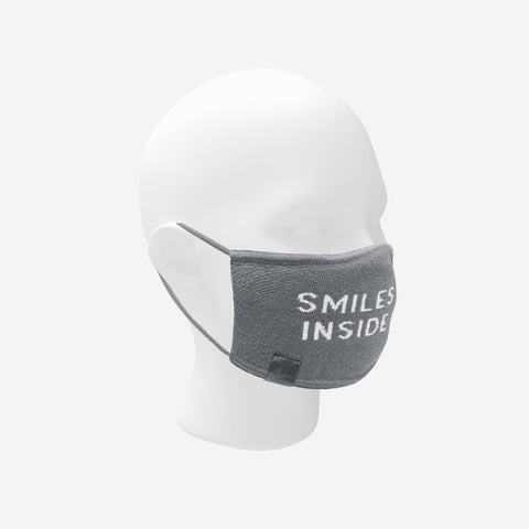 Light Charcoal Smiles Inside Seamless 3D Knit Mask