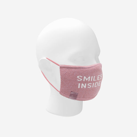 Dusty Rose Smiles Inside Seamless 3D Knit Mask