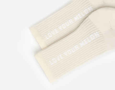 Natural Logo Crew Knit Socks