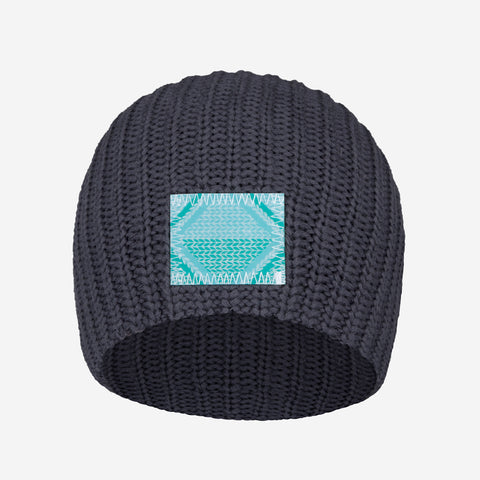 Dark Charcoal Beanie (Lenticular Patch)