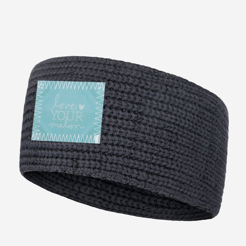 Dark Charcoal Knit Headband (Lenticular Patch)