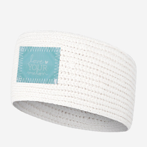 White Knit Headband (Lenticular Patch)