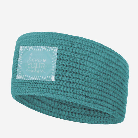 Teal Knit Headband (Lenticular Patch)