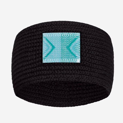 Black Knit Headband (Lenticular Patch)