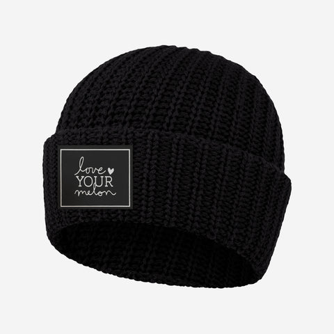 Black Cuffed Beanie (Light Up Patch)