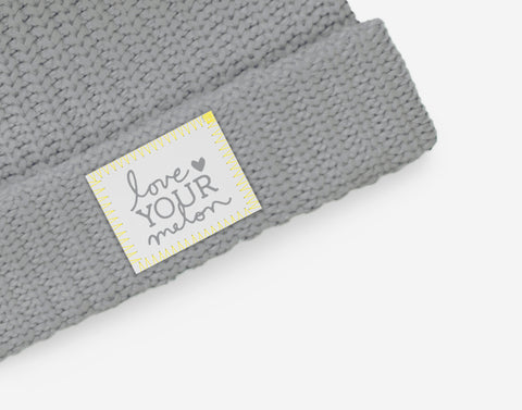 Love Your Melon Ultimate Gray Double Pom Beanie