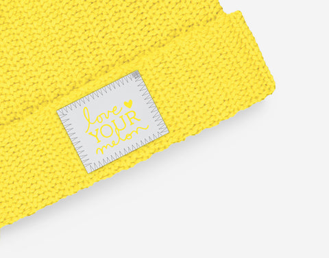 Love Your Melon Illuminating Yellow Double Pom Beanie