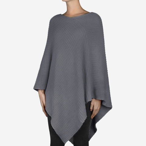 Light Charcoal Knit Shawl