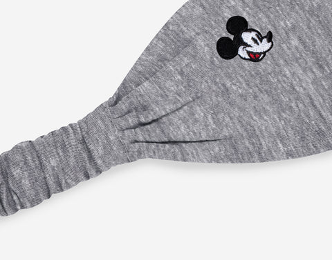 Mickey Mouse Gray Tri-Blend Scrunch Headband