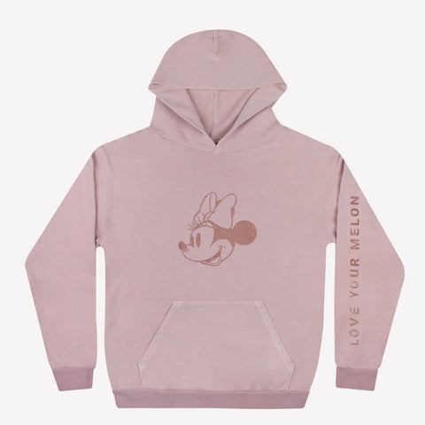 Dusty Rose Minnie Mouse Hoodie
