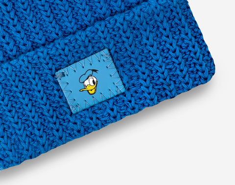 Donald Duck Bright Blue Baby Cuffed Beanie