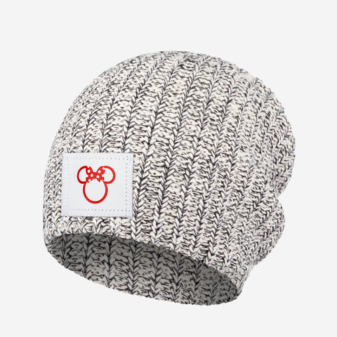 Black Speckled Minnie Mouse Outline Beanie