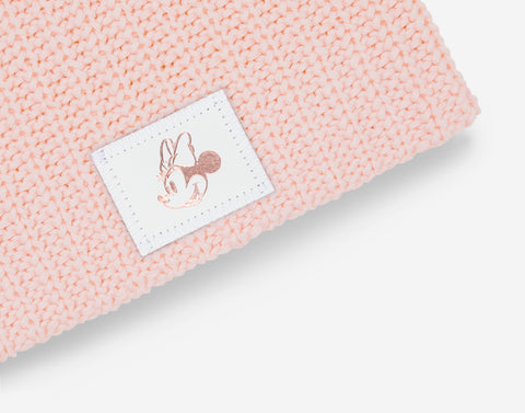 Blush Minnie Mouse Rose Gold Foil Beanie