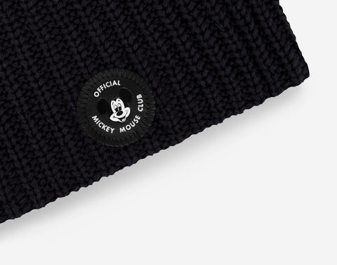 Mickey Mouse Club Adult Black Beanie