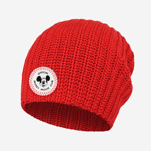 Mickey Mouse Club Adult Red Beanie